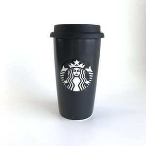Starbucks Black Writable Siren Mermaid Ceramic Cup
